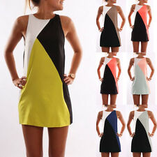 Summer Womens Sleeveless Evening Party Formal Casual Dress Short Mini Dresses