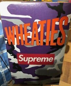 Supreme Limited Edition Wheaties Purple Camo Cereal Box NEW