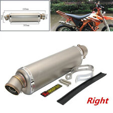 Universal Motorcycle Dirt Bike ATV Exhaust Muffler Pipe for Right Side 440mm
