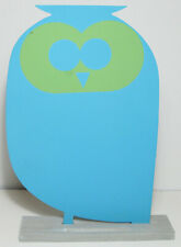 "Blue Owl Shaped Chalkboard 8""w x 12""h Free Shipping USA New not in original box"