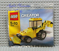 NEW Lego Creator Mini BACKHOE Set 7875 -Yellow Tractor Truck w/Black Wheels RARE
