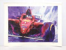 Tatsu Nakatsu Michael SCHUMACHER Ferrari F1 Limited Edition Art Print Formula 1