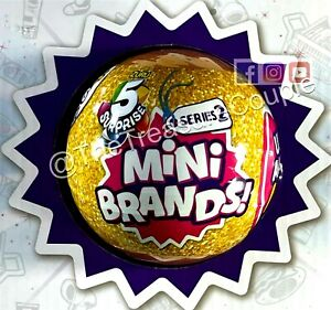 5 Surprise Mini Brands - 1 Ball (5 total figs.) SERIES 2 - NEW and SEALED - ZURU
