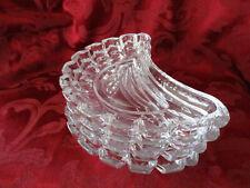 Villeroy & Boch crystal lot of 4 crescent shaped salad plates