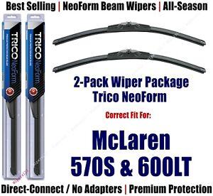 2pk Premium NeoForm Wipers fits 2019+ McLaren 570S & 600LT 162612x2