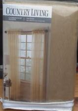 Country Living Cambridge Sheer Curtain Panel - Gold - Brand New In Pack - 54x84