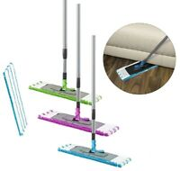 Long Handle Microfibre Mop Cleaner Sweeper Wooden Laminate Tile Floor Wet Dry