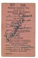 1946? Students Inclusive Tour Sydney, Brisbane,Daydream Island Cancelled rare