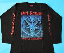 Vital Remains - Forever Underground T-shirt Long Sleeve size L NEW