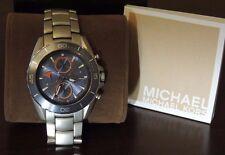 $275 Michael Kors Jetmaster Watch Stainless-Steel Bracelet Chronograph MK8484 MK