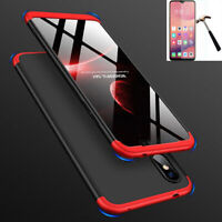 For Xiaomi Redmi 7A/8A/Note 7 8 10 Pro 360°Protection Case Cover+Tempered Glass