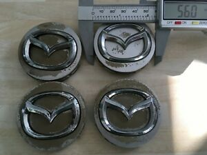 Set of 4  Mazda 56mm wheel  centre caps   2874  # JL261