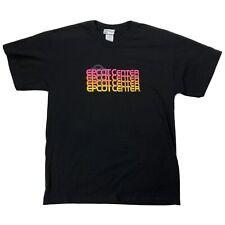 Vtg Disney Epcot Center Logo Shirt Sz Large Black Pink Yellow Short Sleeve Tee