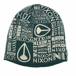 Nixon News Beanie Hat Hunter Green One Size