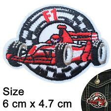 Racing car Iron on patch formula one races race cars finish f1 iron-on patches