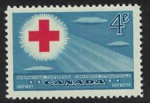 canada stamps - 1952 international red cross conference 4c - Mint NH sg442