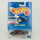 1991 Vintage Hot Wheels Collector #441 CHEVY STOCKER Black w/Chrome 7 Spoke Whls