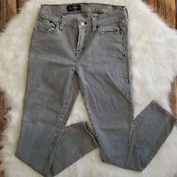 J Crew Toothpick Stretch Womens Skinny Ankle Pinstripe Jeans Size 25