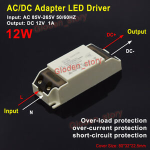 AC-DC Converter AC 110V 120V 220V to 12V 1A LED Driver Adapter Switching Module
