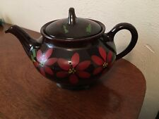 Royal Canadian Art Pottery- Royal Dripless Brown Teapot w/Lid-Hamilton Canada