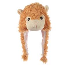 Fun Plush Llama Hat (One Size) - Children's Novelty Winter Wear Ear Warmers