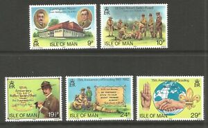 Isle Of Man Stamps - 75th Anniversary of Scouting Set - 1982 - MNH