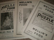 3 Mellin's baby Food old adverts 1898