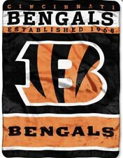 "Twin size-60x80-Officially Licensed "" Cincinnati Bengals@ Faux Fur Blanket- New"