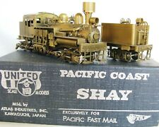Shay Pacific Coast 3-Truck Late Run by PFM Excellent Condition Good-Runner Brass