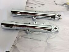 HARLEY DAVIDSON SOFTAIL,DELUXE HERITAGE CHROME FORK SLIDERS LOWER LEGS 2000-2006
