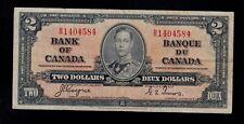 CANADA  2  DOLLARS 1937 B/R  PICK # 59c  F-VF