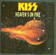 "KISS 7"" Single 1984 Heavens on Fire / Lonely is the Hunter VER12"