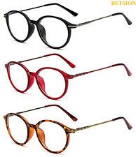 Retro Oval Glasses Full Rim Eyeglasses Frames Plain Lens Rx able Spectacles