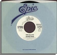 "George Duke - Ride On Love - 1982 Epic Promo 7"" 45 RPM Soul Single!"