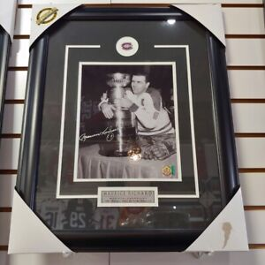 Maurice Richard Montreal Canadiens Signed Framed 8 x 10 Photo