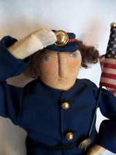 Pattern,Primitive doll,Americana,folk art,soldier, by Dumplinragamuffin,#86