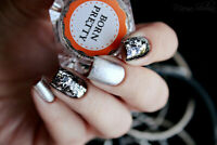 2 Boxes Holographicss Silver Flakes Nail Sequins Mirror Glitter Powder Paillette