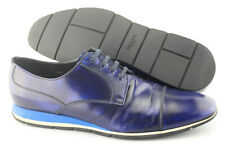 Men's PRADA 'Cap Toe' Navy Blue Leather Oxfords Size US 12 PRADA 11