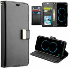 Dreamwireless SAMSUNG GALAXY S8 COMPARTMENT CARD SLOTS WALLET POUCH BLACK New
