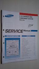 Samsung max-555 service manual original repair book stereo radio cd player