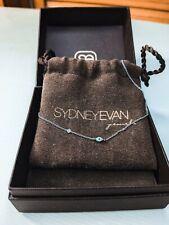 Sydney Evan 14k Gold Evil Eye Necklace w/ Single Diamond