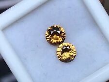 Natural Loose Matching Orange Zircon Diamond Cut 5mm Round Gemstone Lot