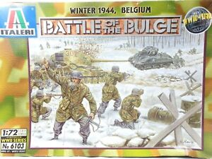 ITALERI 6103 Winter 1944 Belgium Battle of the Bulge WWII 1:72 Scale Model Kit