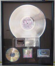 "RIAA Phil Collins "" Serious Hits...Live"" Platinum Record Award"