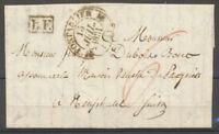1831 Lettre Pontarlier C.12 + L.F. encadré, taxe 6 rouge Suisse DOUBS X4124