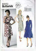 Butterick Sewing Pattern Tea Dress 1940s WW2 Style Size 8-16 Ladies UNCUT 5951
