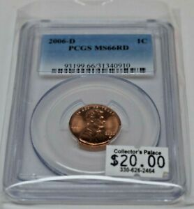 2006 D 1C LINCOLN PENNY PCGS MS 66 RD BUSINESS STRIKE