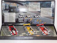 1/43 Minichamps Audi R8 Infineon 3 CAR SET Le Mans 2002 Biela Capello Krumm