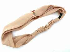 Beautiful EVITA PERONI 'Nude' Silk Chiffon & Faux Tortoise Shell Link Headband