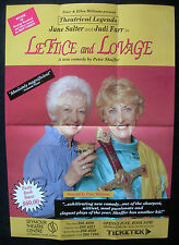 Vintage Playbill LETTICE AND LOVAGE Seymour Theatre 1993  June Salter, Judi Farr